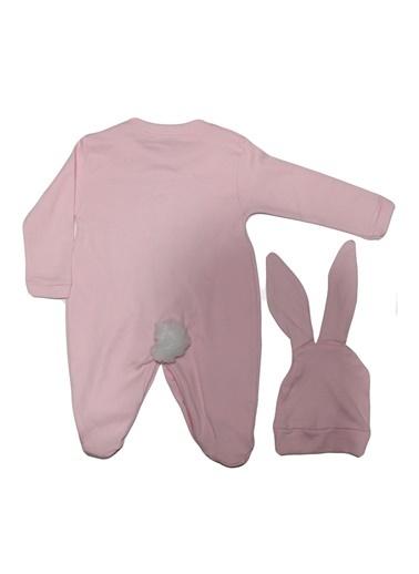 By Bebek Odam Ponponlu Şapkalı Tavşan Tulum Pembe